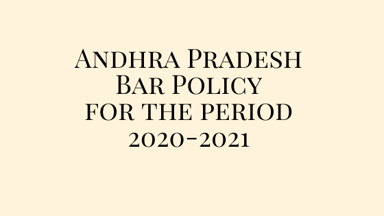 Andhra Pradesh Bar Policy for the period 2020-2021