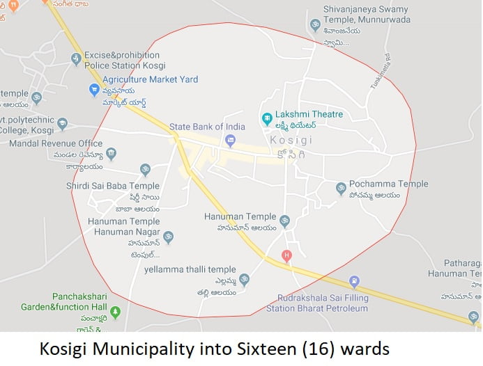 Kosigi Municipality Election to 16 Wards