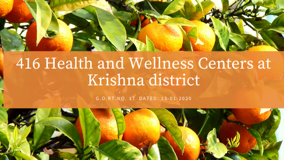 Health and Wellness Centers at Krishna district