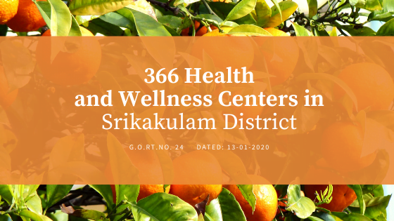 366 Health and Wellness Centers in Srikakulam District