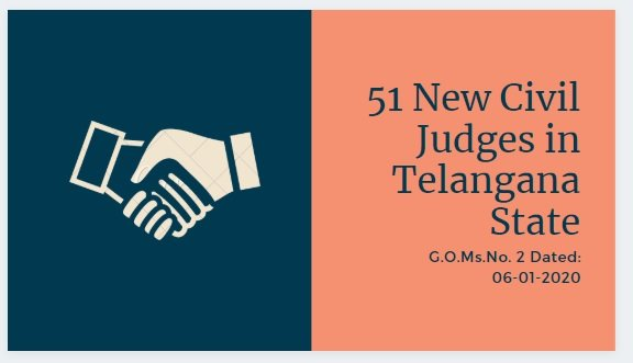 51 New Civil Judges in Telangana State