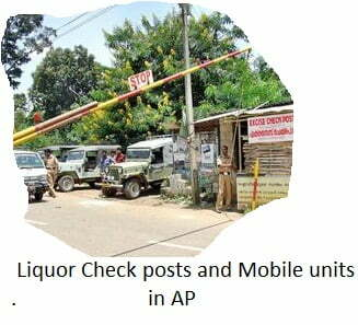 Liquor Check posts and Mobile units in AP